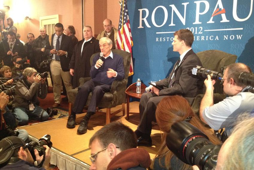 U.S. Congressman Ron Paul headlines a town hall in Meredith, NH. About 500 supporters and undecided voters showed up to hear…