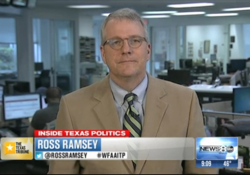 "Texas Tribune Executive Editor Ross Ramsey on WFAA-TV's ""Inside Texas Politics"" on March 23, 2014."