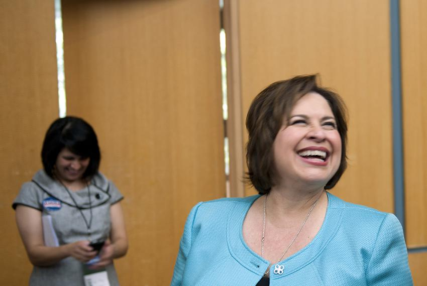 State Sen. and Democratic nominee for lieutenant governor Leticia Van de Putte at the Democratic state convention on June 27…