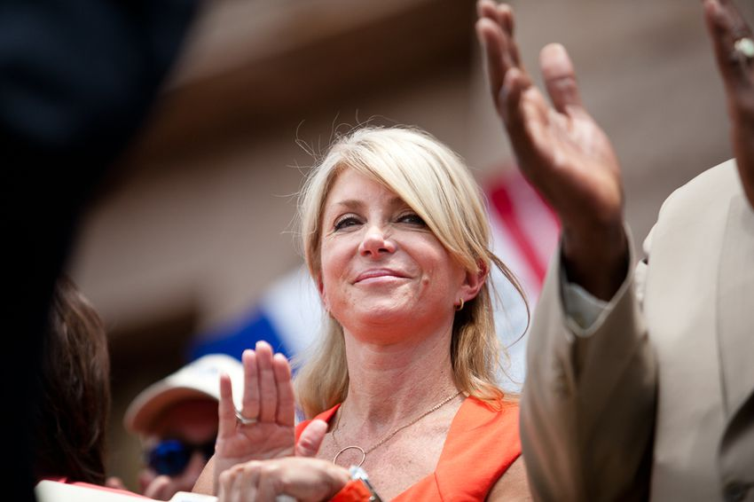 """State Sen. Wendy Davis, D-Fort Worth, at a """"Stand With Texas Women"""" rally at the state Capitol."""