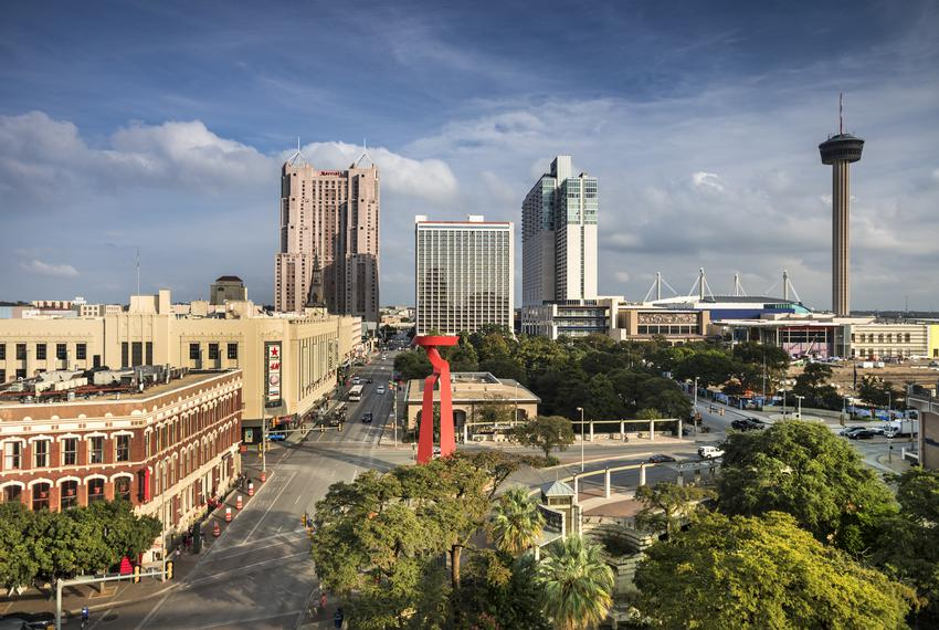 Skyline view of downtown San Antonio.