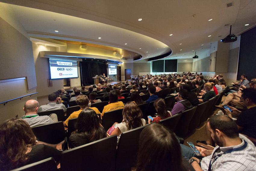 Texas Tribune Festival attendees attended a pre-Festival recording of the TribCast on Oct. 16, 2015. The recording feature...