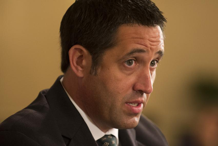 State Sen. Glenn Hegar, the Republican nominee for state comptroller, is shown at a TribLive event on May 29, 2014.