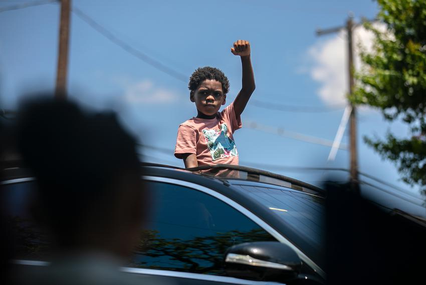 Austin residents celebrated during the annual Juneteenth parade in East Austin on June 19, 2021. Juneteenth commemorates Uni…