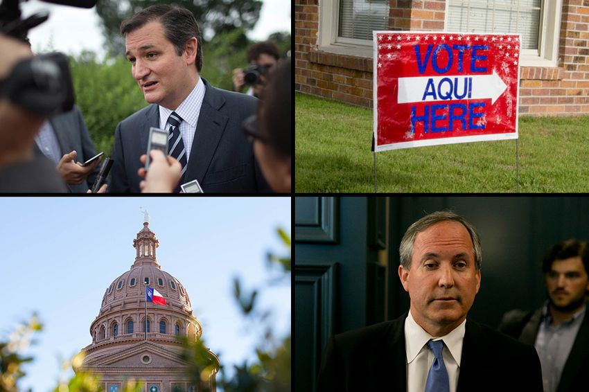 What to watch in 2016: The presidential campaign of U.S. Sen Ted Cruz, R-Texas (top left) and the future of Texas Attorney General Ken Paxton (bottom right).