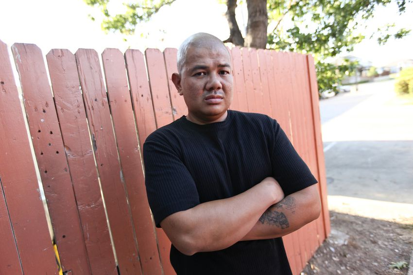 Entre Nax Karage outside his home in Dallas on September 12, 2011.