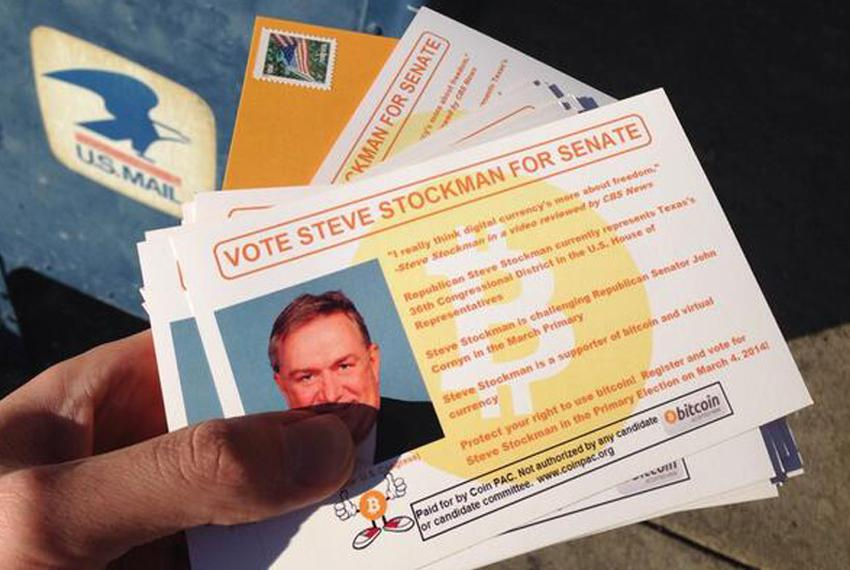 A campaign mailer from Coin PAC in support of U.S. Rep. Steve Stockman's bid for U.S. Senate. The political action committee…
