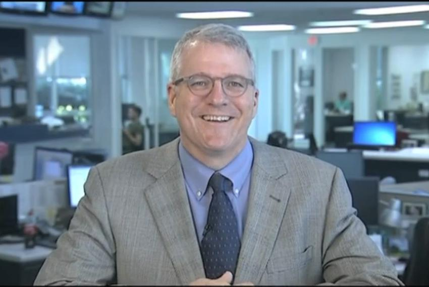 "Texas Tribune Executive Editor Ross Ramsey on WFAA-TV's ""Inside Texas Politics"" on Sept. 7, 2014."