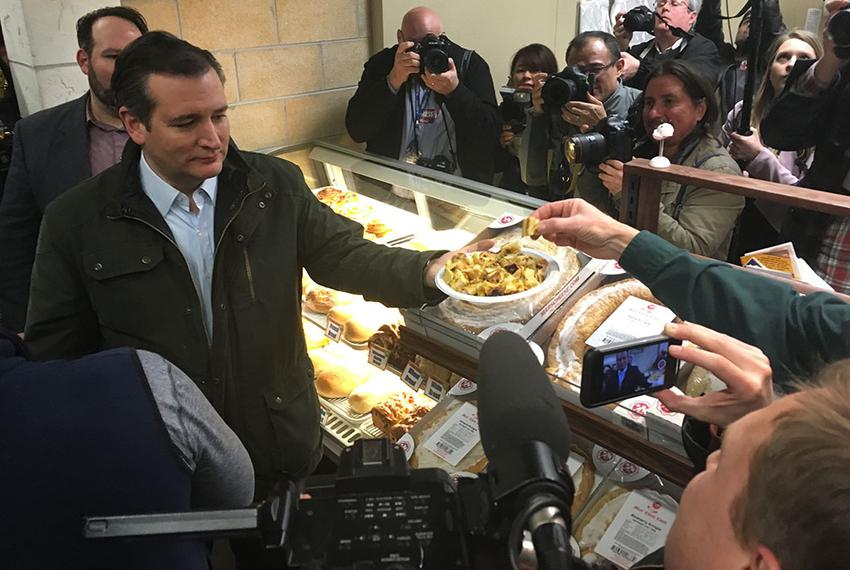 Presidential hopeful and U.S. Sen. Ted Cruz on the campaign trail in Wisconsin on April 4, 2016, the day day before the stat…