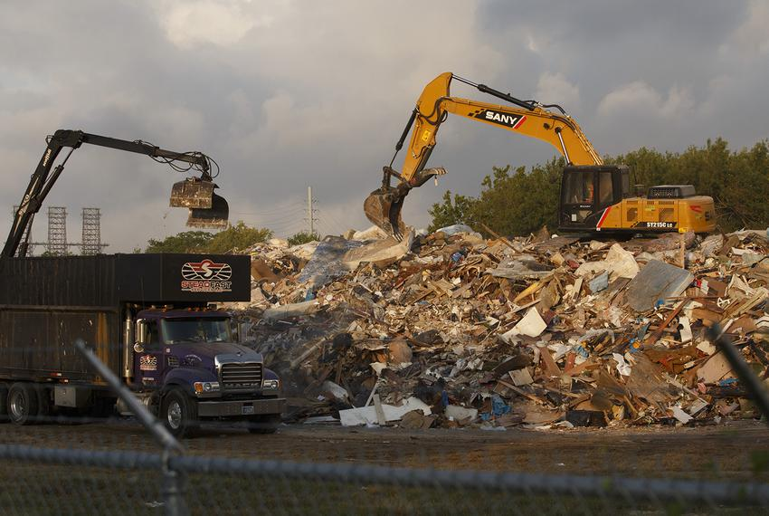 One of three approved debris removal sites in Port Arthur, where some residents have raised concerns about the city's plan...
