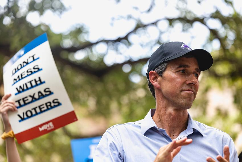 Former Democratic Presidential Candidate, Beto O'Rourke, spoke at the 'For the People Rally' at the Capitol in Austin in sup…