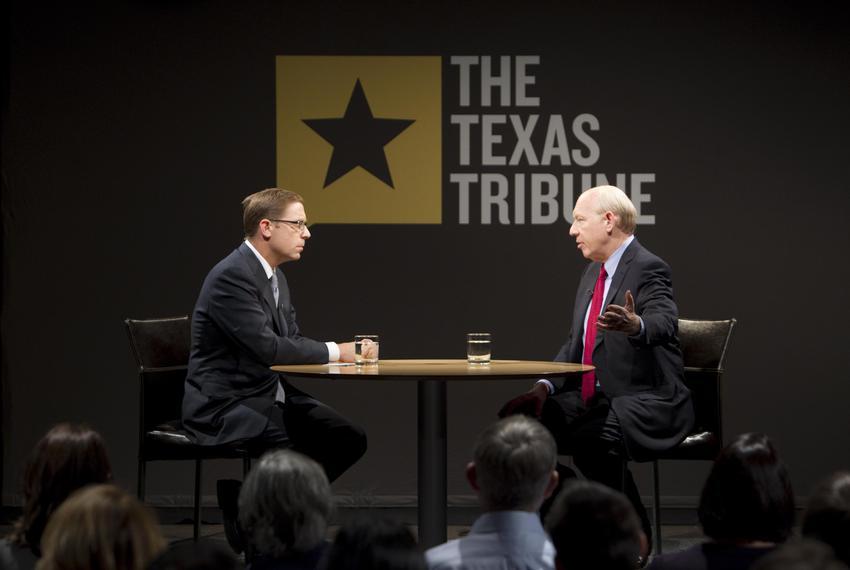 Bill White being interviewed by Evan Smith on October 15, 2010 in Austin.