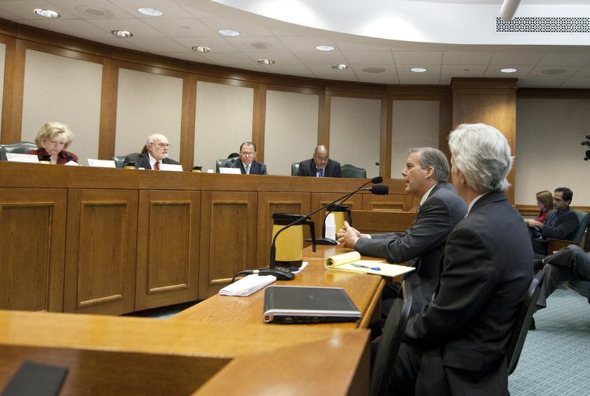 Williamson County DA John Bradley speaks during Senate Nomination Committee to the Forensic Science Commision. February 28th…