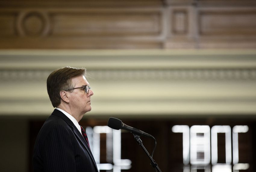 Lt. Gov. Dan Patrick at the dais on the Senate floor on May 25, 2019.
