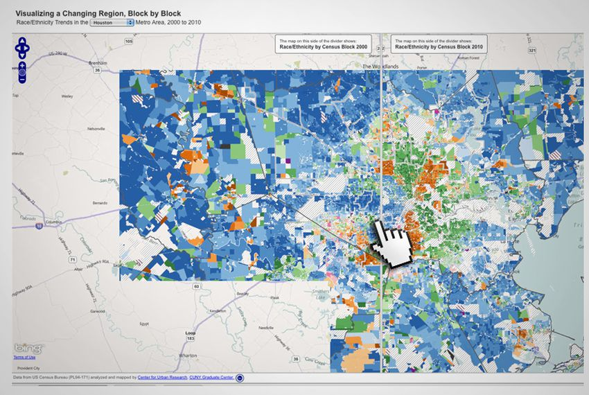 On The Records An Interactive Map Of Houston The Texas Tribune - Us census map by race
