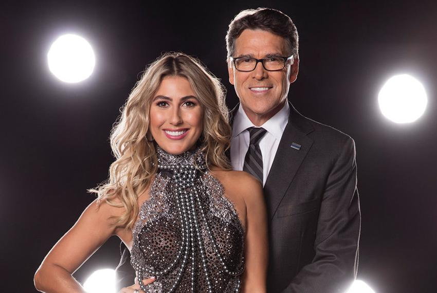 Former Gov. Rick Perry with Emma Slater, his Dancing with The Stars partner.