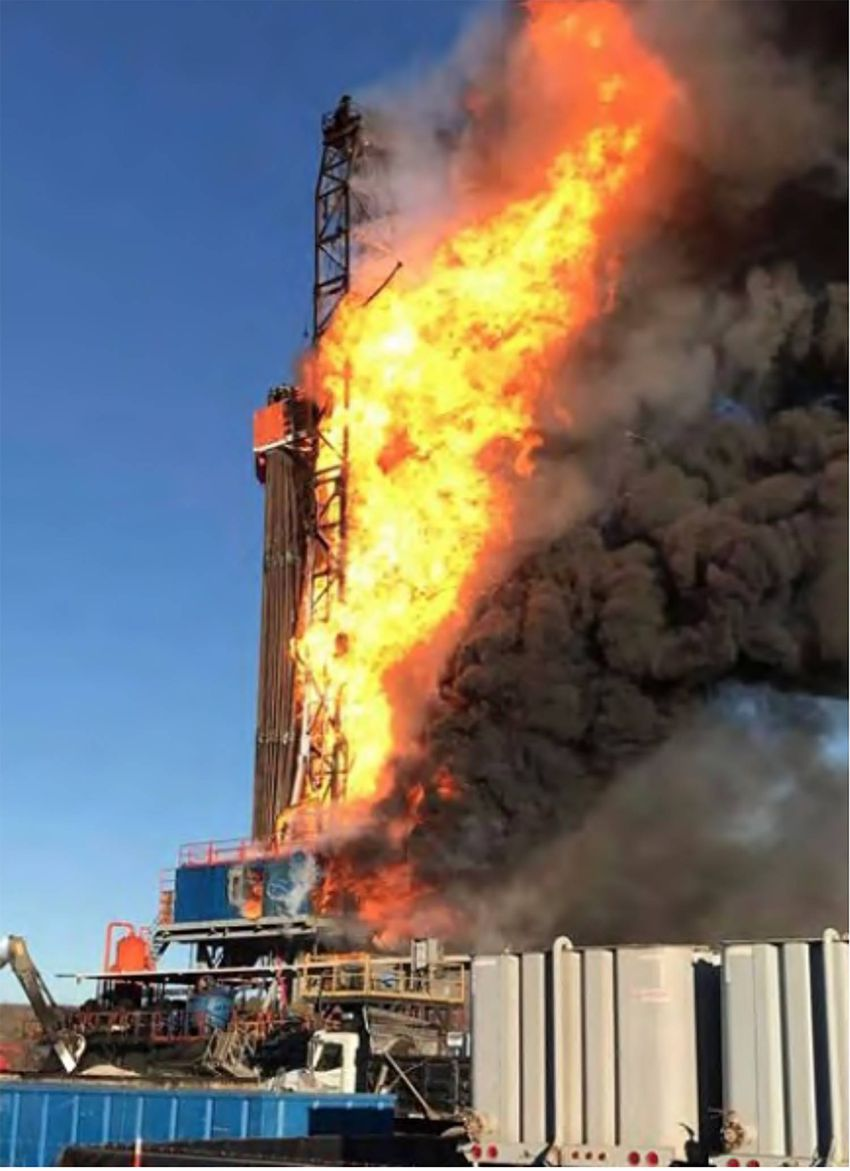 Five men died when Patterson Rig 219 exploded in Oklahoma.