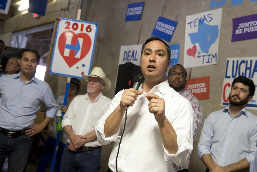 U.S. Rep. Joaquin Castro, D-San Antonio, addresses Democrats at a get-out-the-vote really Saturday in Austin. He was joined …
