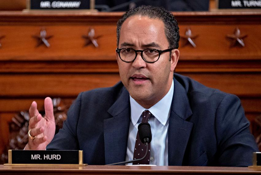 U.S. Rep. Will Hurd, R-Helotes, questions witnesses during a House Intelligence Committee impeachment inquiry hearing in Was…