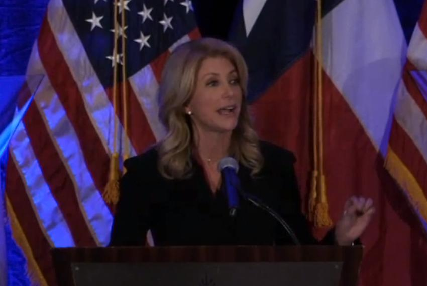 State Sen. Wendy Davis, D-Fort Worth, a Democratic candidate for Governor, speaking at the Travis County Democratic Fundrais…