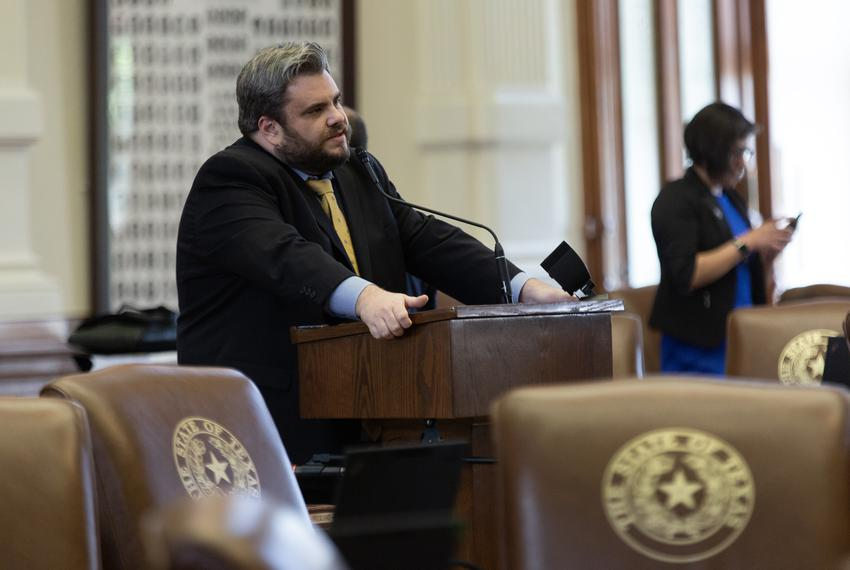 State Rep. Jonathan Stickland, R-Bedford, on the House floor on May 21, 2019.