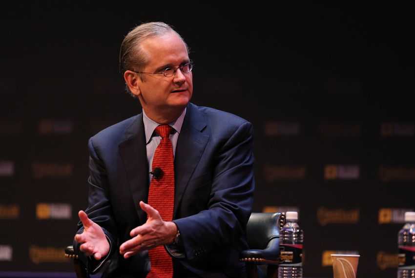 Democratic presidential candidate Lawrence Lessig was interviewed by Washington Post correspondent Karen Tumulty on Oct. 17, 2015.