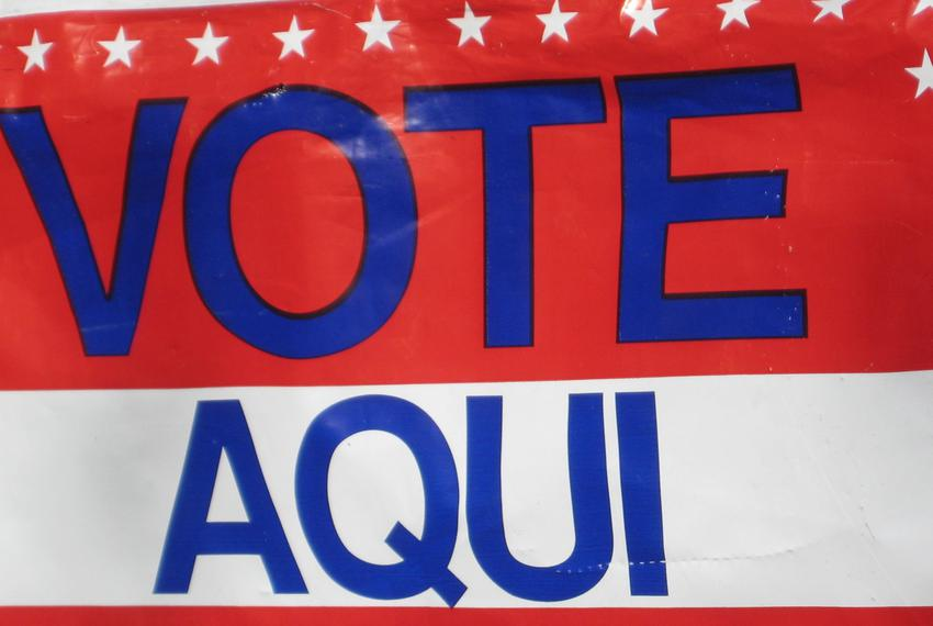 """Picture of """"Vote Aqui"""" sign during 2010 elections."""