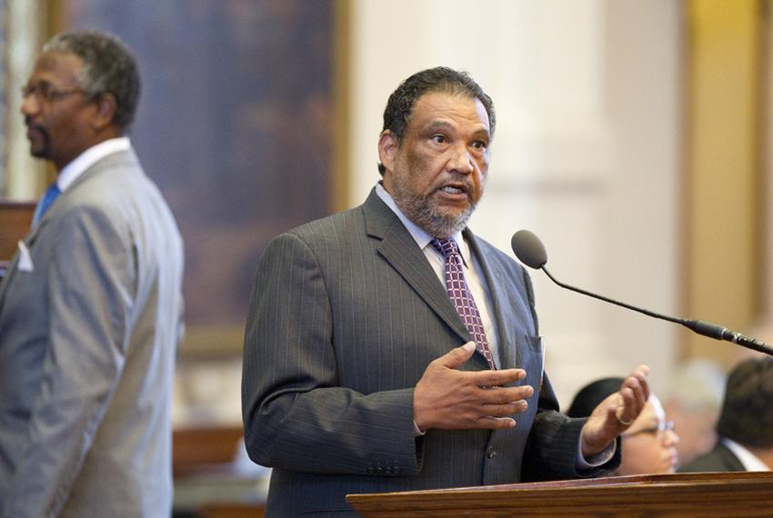 State Rep. Joe Deshotel, D-Port Arthur, urges House members to vote against bringing up the TSA bill HB29 laid out by State …