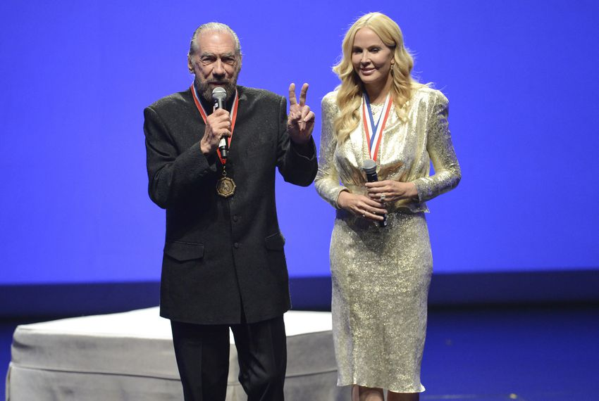 Billionaire businessman John Paul DeJoria and wife Eloise Broady DeJoria at the 2017 Texas Medal of Arts Awards at the Bass Concert Hall at the University of Texas. The DeJorias were lauded for their corporate arts patronage in Texas. Feb. 22, 2017.