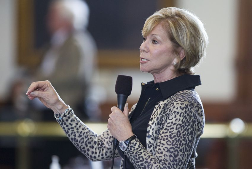 Sen. Florence Shapiro, R-Plano, debates a bill on the Senate floor on May 25, 2011.