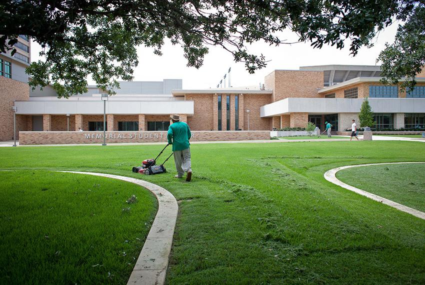 Landscaping workers are among the Texas A&M University employees who will have to join an outside company, because A&M is ou…