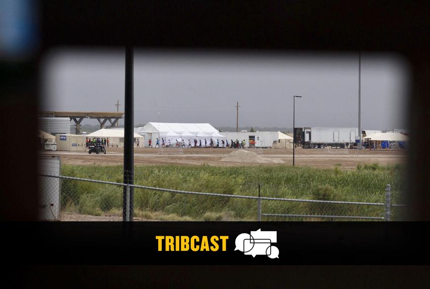 The tent city at Tornillo Port of Entry near El Paso on June 16, 2018. The facility was created to house immigrant childre...