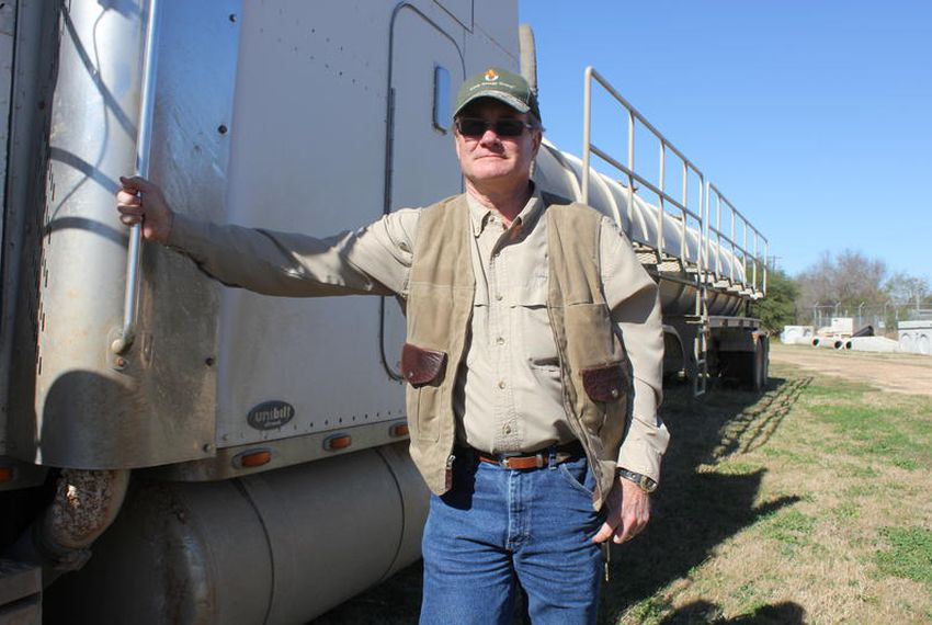 Former police officer Mike Peters now works security for oil producers. He watches out for signs of oil laundering.