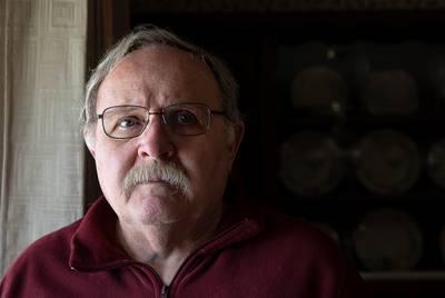 Dennis McManaman of Amarillo and a retired officer with the Potter County and Randall County sheriff's offices has had vision problems since 2006. Jan. 30, 2019.