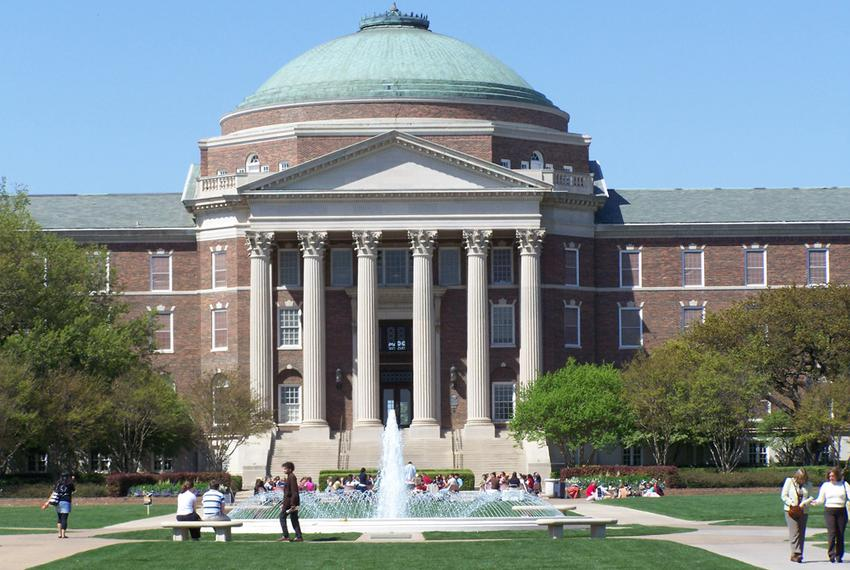 Dallas Hall on SMU campus.