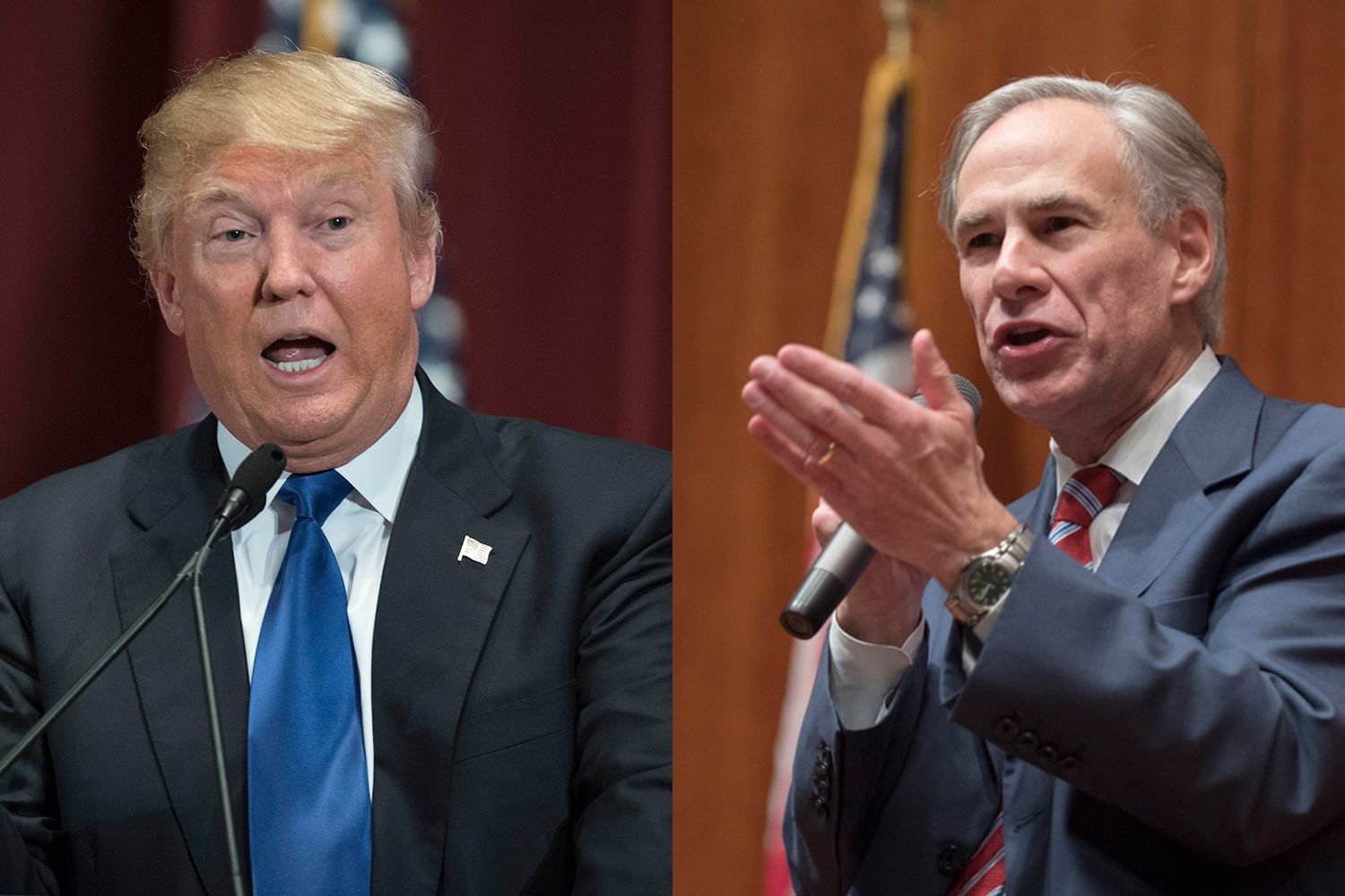 President Donald J. Trump and Gov. Greg Abbott.