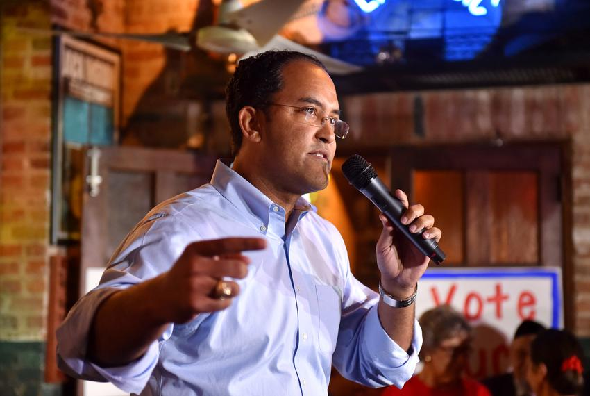 Congressional candidate Will Hurd speaks to supporters during a get-out-the-vote rally in San Antonio. Nov. 7, 2016.