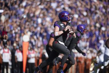 TCU Horned Frogs against the Texas Longhorns at the Amon G. Carter Stadium in Fort Worth on Oct. 26, 2019.