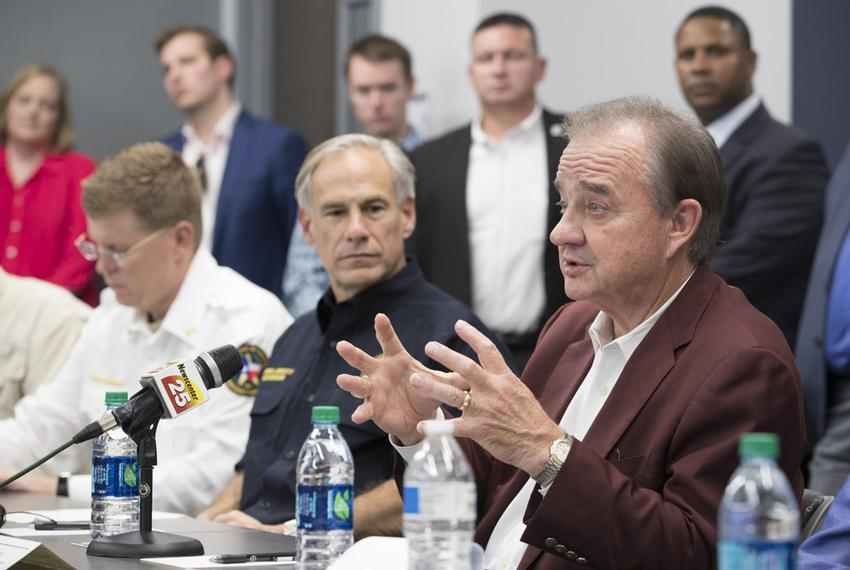 Texas A&M University System Chancellor John Sharp, chosen to headthe Governor's Commission to Rebuild Texas, speaks at a m…
