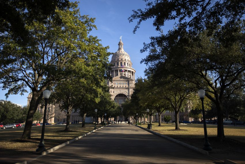 The Texas state Capitol on the first day of the 86th legislative session on Jan. 8, 2019.