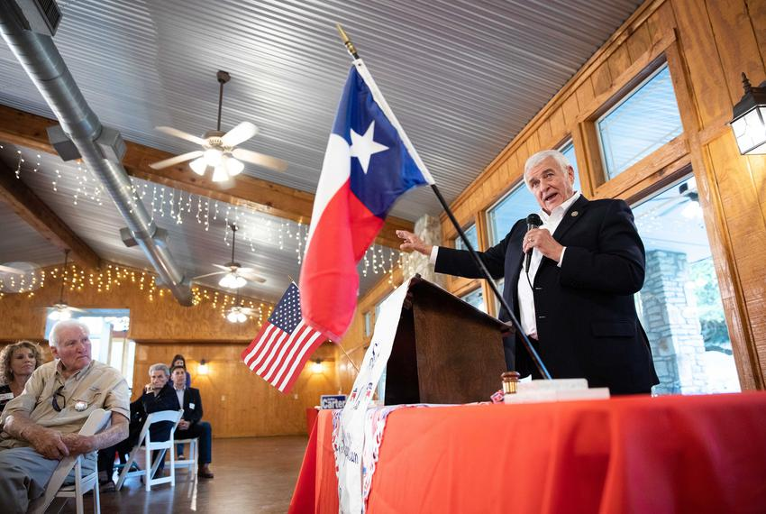 U.S. Rep. John Carter, R-Round Rock, speaks to constituents at a meeting of Salado Area Republican Women on Aug. 24, 2018.