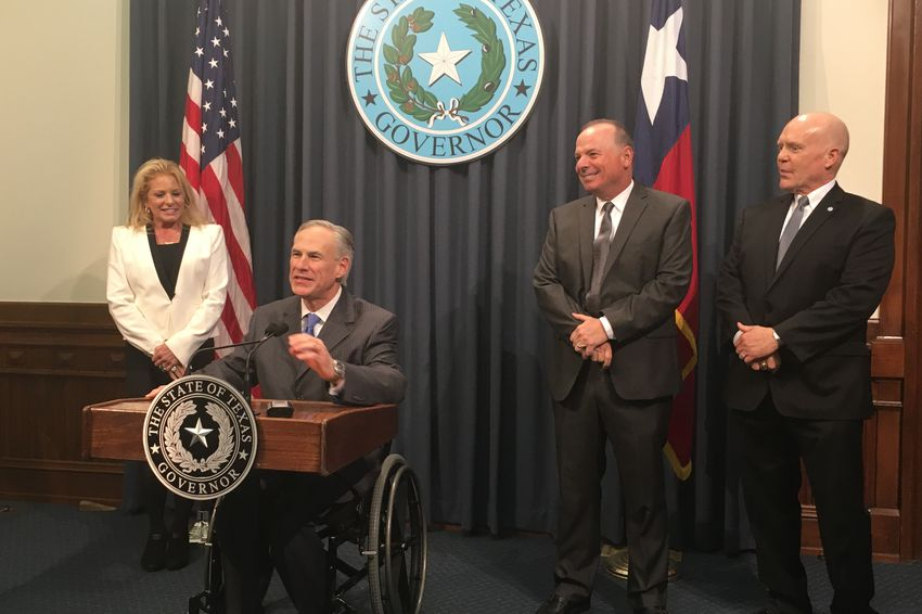 """Texas Gov. Greg Abbott at a press conference on March 14, 2016 dismissed President Obama's criticisms of the state's efforts to improve voter turnout, arguing that the state must crack down on """"rampant"""" voter fraud."""