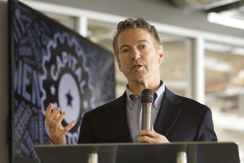 U.S. Sen. Rand Paul, R-Ky., speaks at the opening of his Austin office at downtown startup incubator incubator Capital Facto…