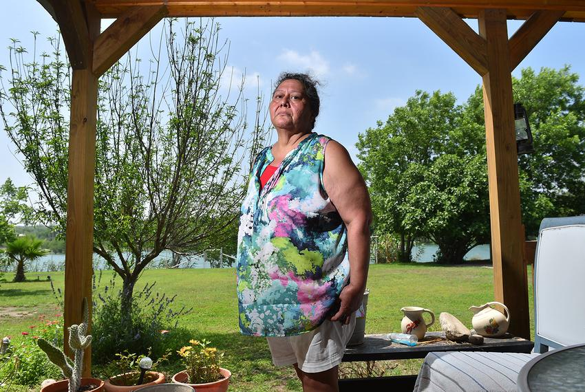 Maria Villarreal at her Val Verde County home along the Rio Grande on April 21, 2017.