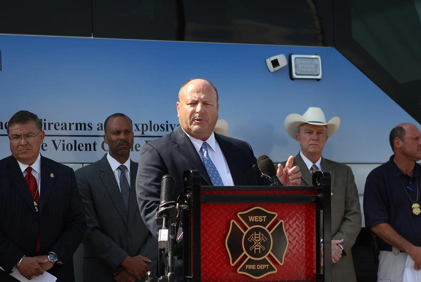 State Fire Marshal Chris Connealy spoke during the West press conference at West High School and announced that the cause of…
