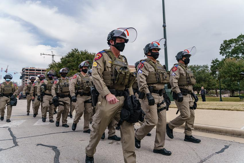 Security at the Texas Capitol has ramped up after violence in Washington, D.C., earlier in January. Jan. 12, 2021.