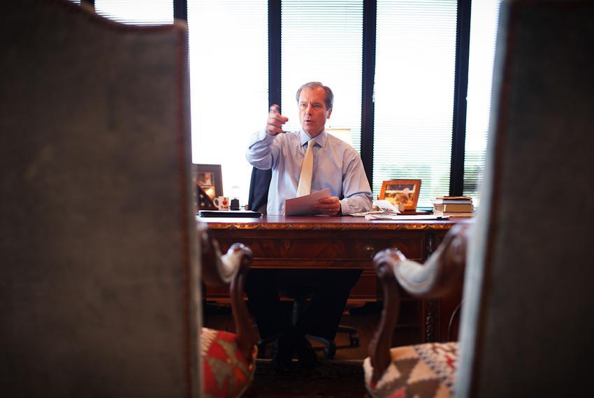Lt. Gov. David Dewhurst in his office at Falcon Seaboard in Houston Wednesday, April 25, 2012.