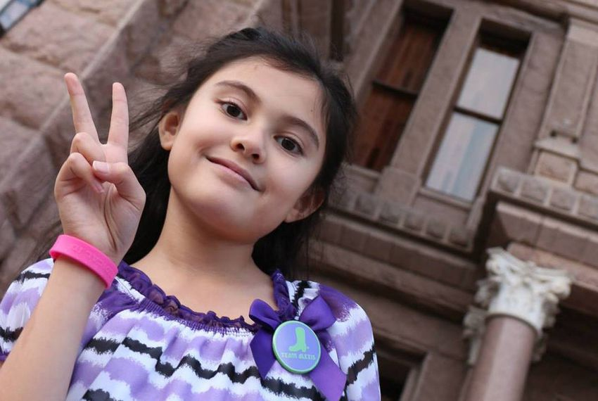 Epilepsy patient Alexis Bortell of Rowlett, at the Texas Capitol in 2014.
