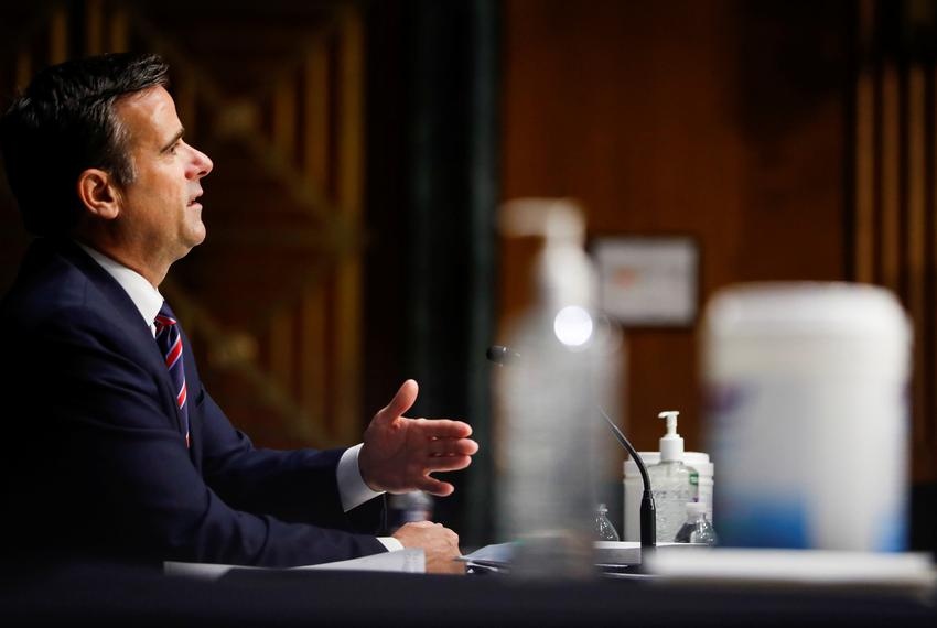 U.S. Rep. John Ratcliffe, R-TX, testifies before a Senate Intelligence Committee nomination hearing on Capitol Hill in Washi…
