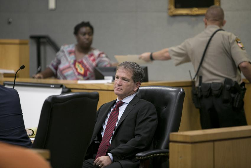 Former chief counsel for Health of Human Services Commission of Texas Jack Stick, sits inside Travis County courthouse on tr…